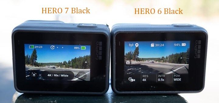 HERO 7 Black vs  HERO 6 Black: Head-to-head Comparison