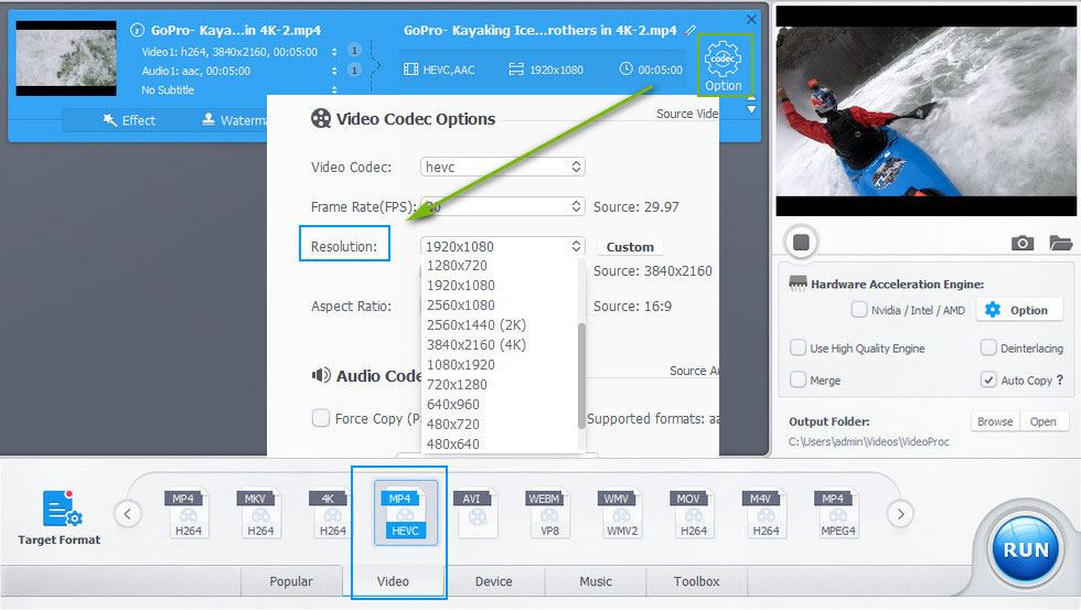 Six Methods to Process and Resize GoPro 4K Video Without
