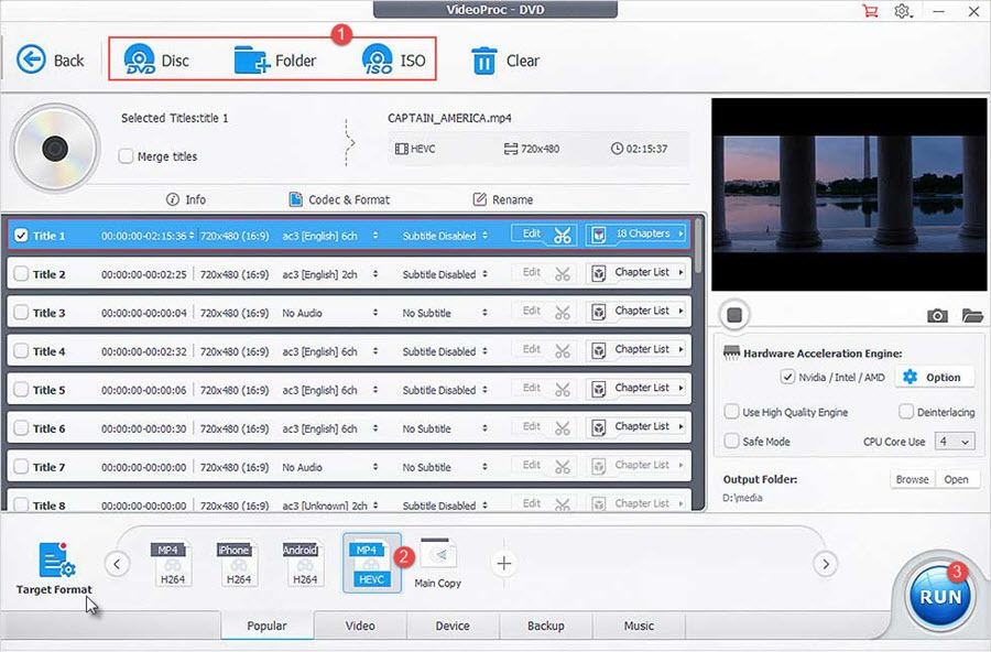 How to Rip DVD to HEVC/H 265 Digital Formats on Windows 10/Mac