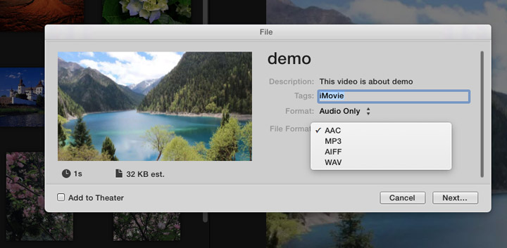 Extract Audio from Video with iMovie