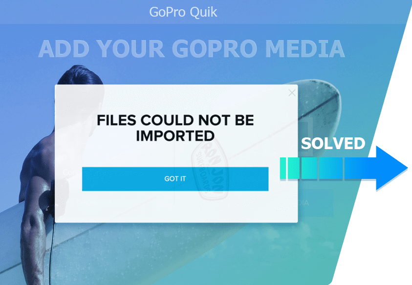 GoPro Quik files not imported solved