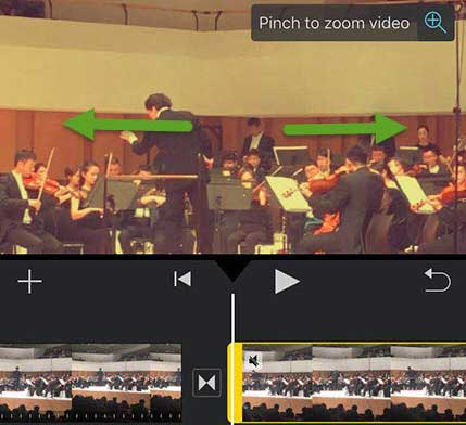 zoom video in iMovie