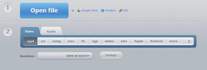 Online Video Converter AVI to MP4